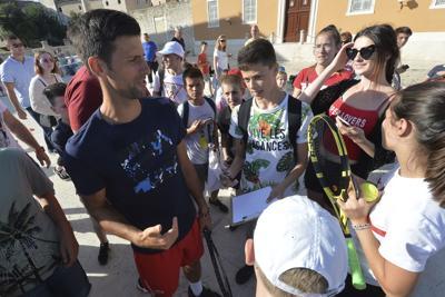 Croatia Tennis Djokovic Coronavirus
