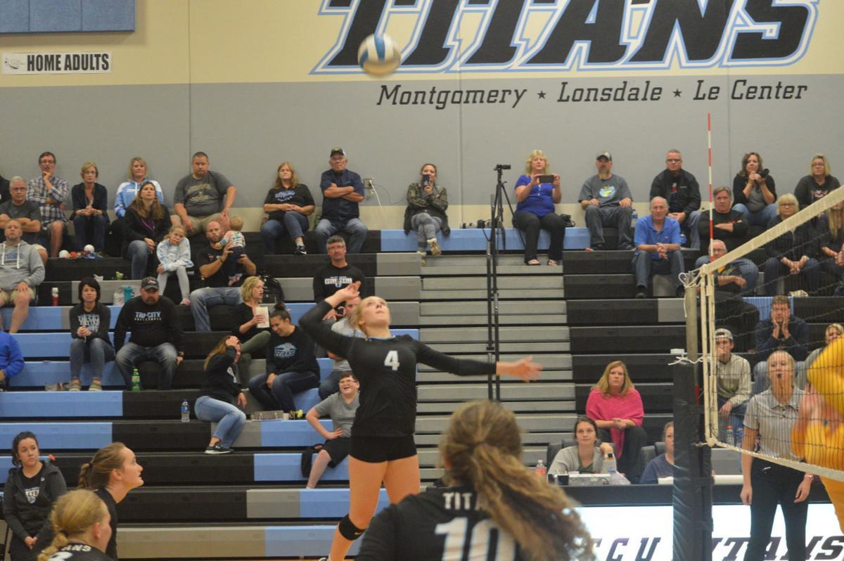 TCU volleyball defeats Sibley East 3-1