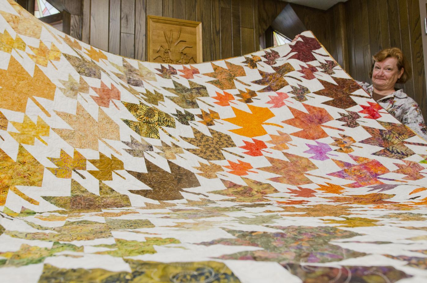 Raffled quilt