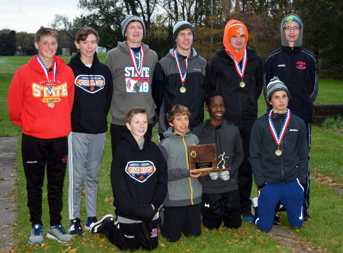 Crusader boys cross country five-peats as conference champs
