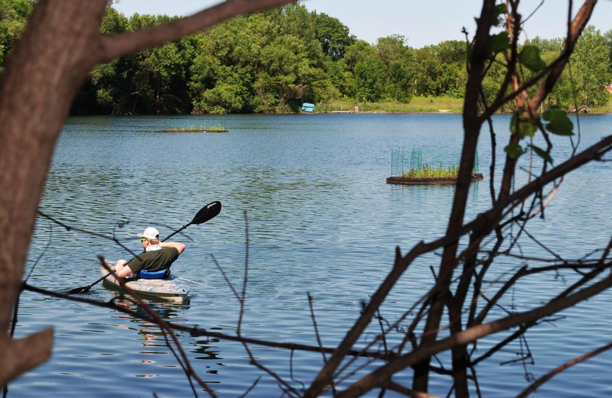 Lake Hallett gets eco-friendly floating islands to help with water quality
