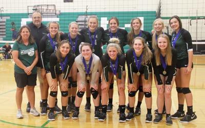 WEM volleyball home tournament champions