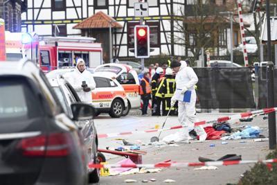 APTOPIX Germany Carnival Crash
