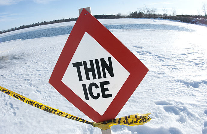 DNR advises people to stay off the ice