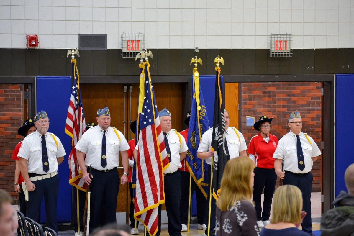 Waseca high school honors veterans with school program