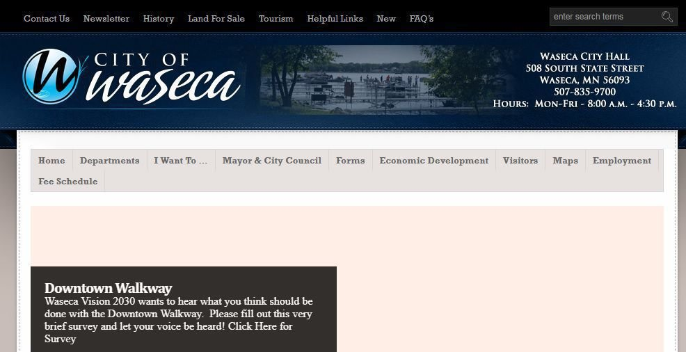 City of Waseca looks to spend on website redesign