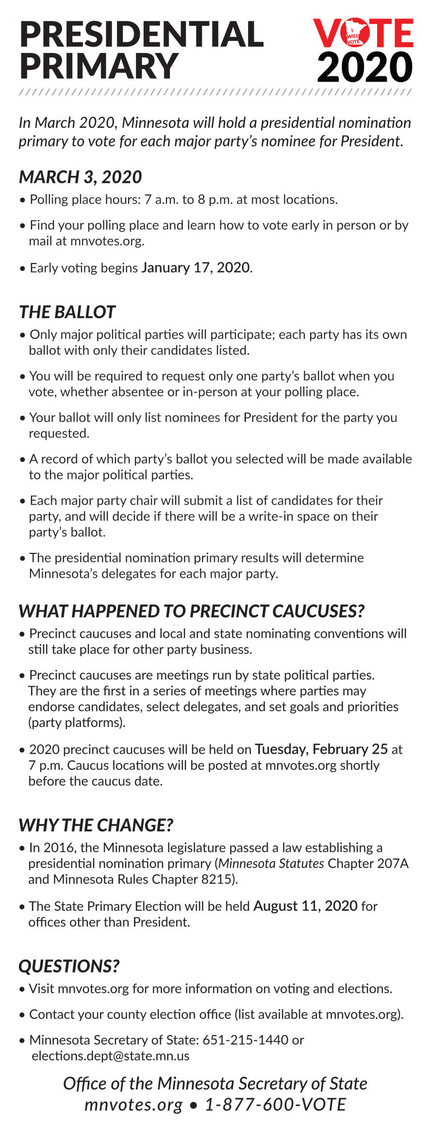 Election 2020 FAQs