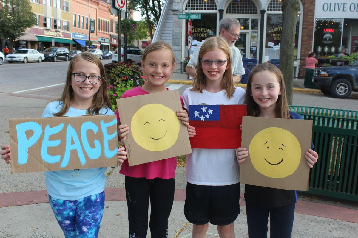 Young students at Peace Rally