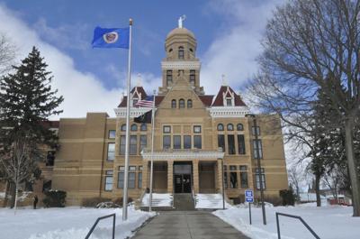 Le Sueur County courthouse snow