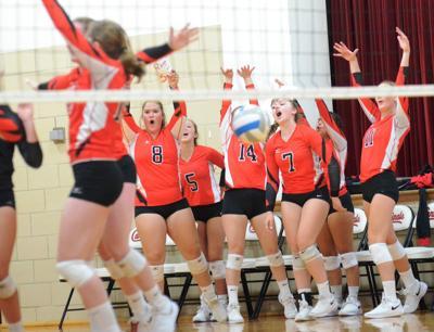 Bethlehem Academy volleyball celebration