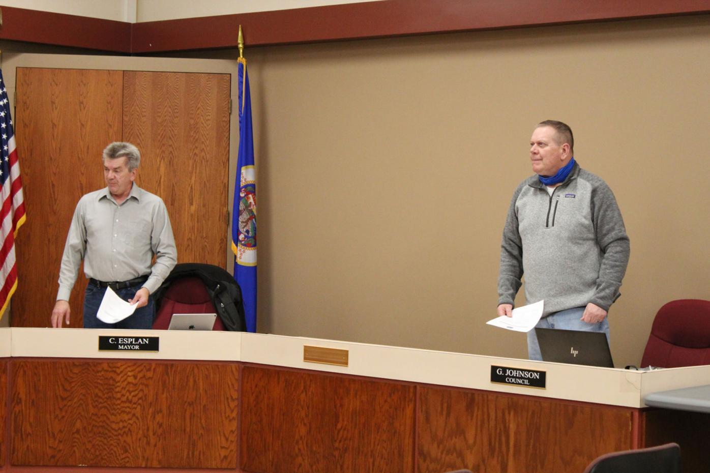 Blooming Prairie Council swears in Esplan Johnson