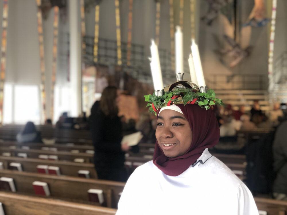 Hanaa Alhosawi crowned 2019 St. Lucia at Gustavus celebration