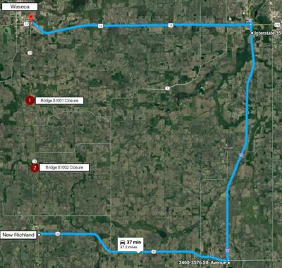Hwy  13 construction from New Richland to Waseca begins