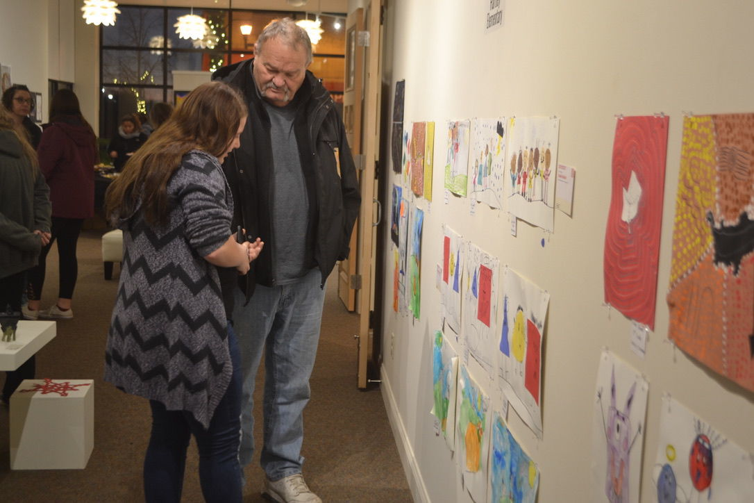 Waseca Art Center hosts reception for all school art show