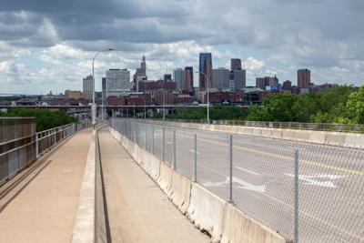 Kellogg/Third Street Bridge is stuck in legislative gridlock. (Photo by Will Jacott/Mi