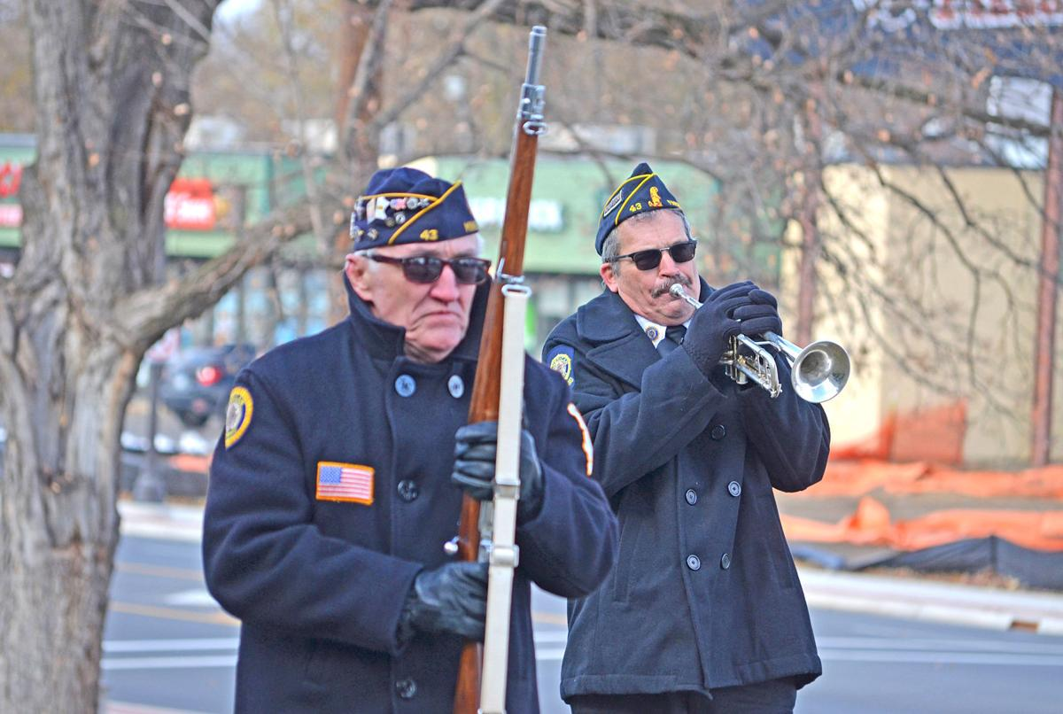 Same sentiments despite chill during Veterans Day ceremony