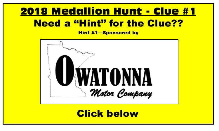 Medallion hunt clue 1 winter wonderland Owatonna motors
