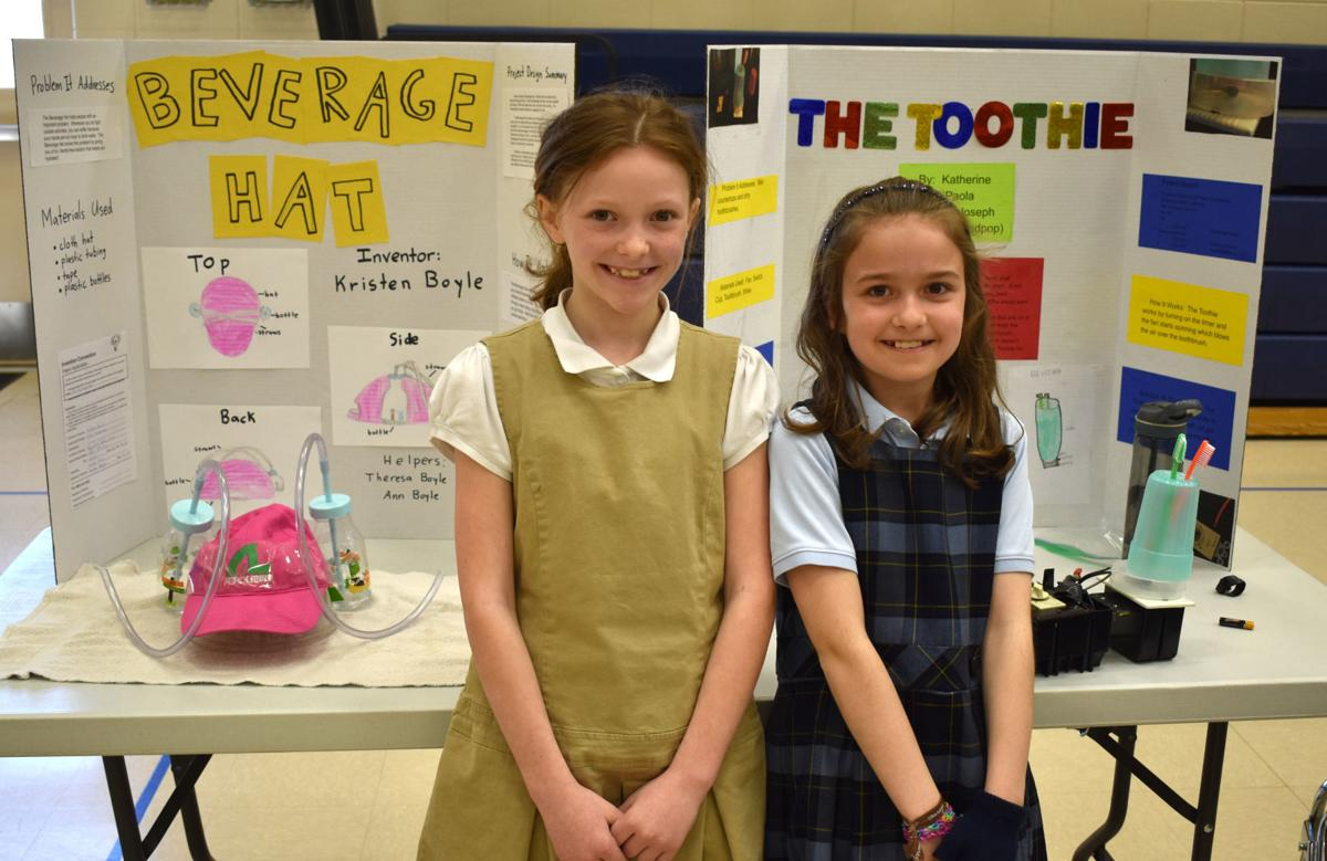gallery: holy cross fourth-graders share ideas at invention