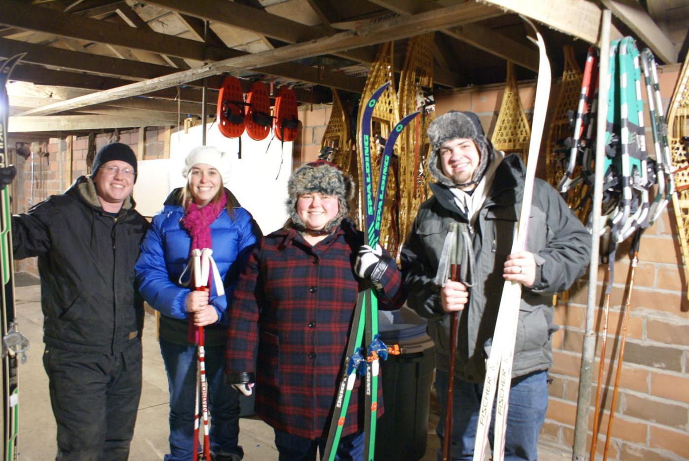 Visitors warmed during Candlelight Ski at Ney Nature Center despite bitter cold