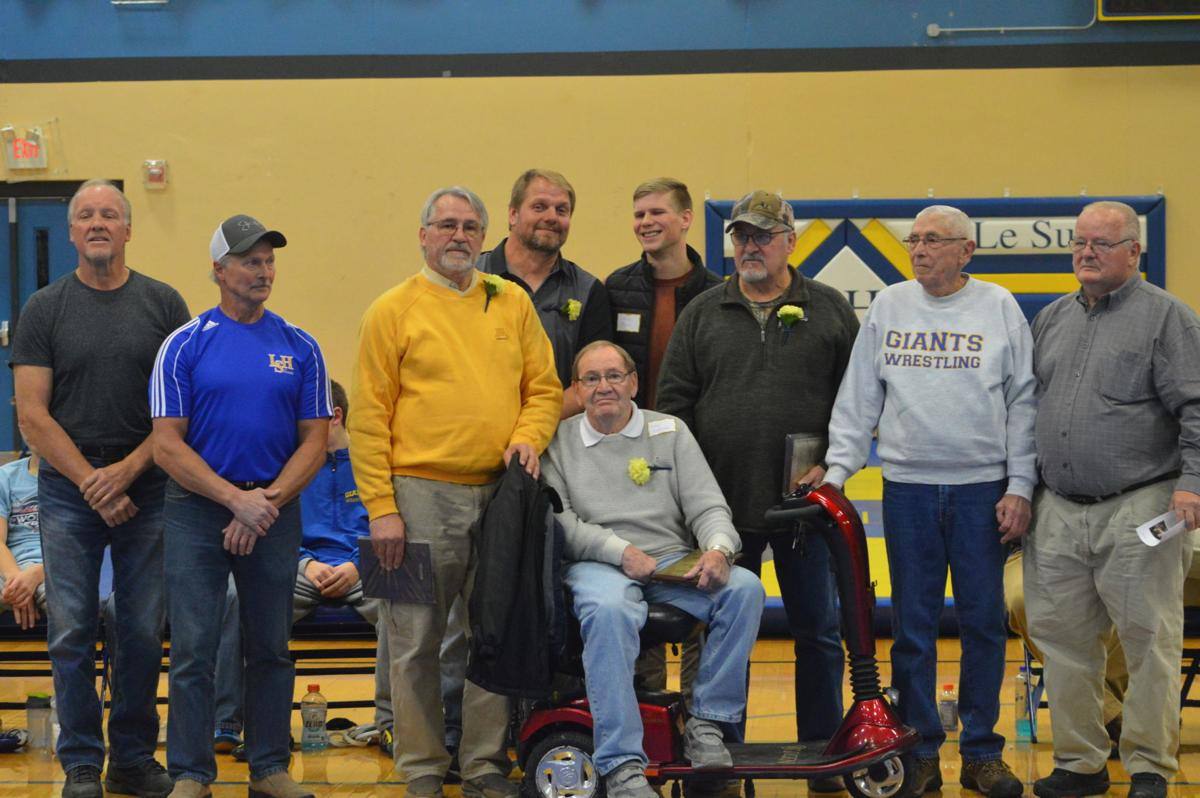 LS-H wrestling inducts new Hall of Fame members, competes in triangular meet