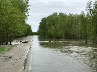 Hwy. 93 South of Henderson flooding