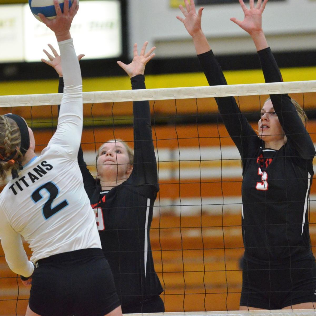 Kenyon-Wanamingo volleyball vs. Tri-City United, Section 2AA playoffs, Oct. 31