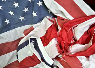 Tattered flags