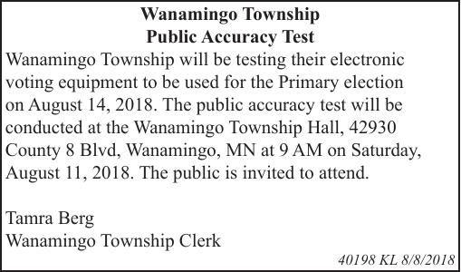 Wanamingo Township Public Accuracy Test