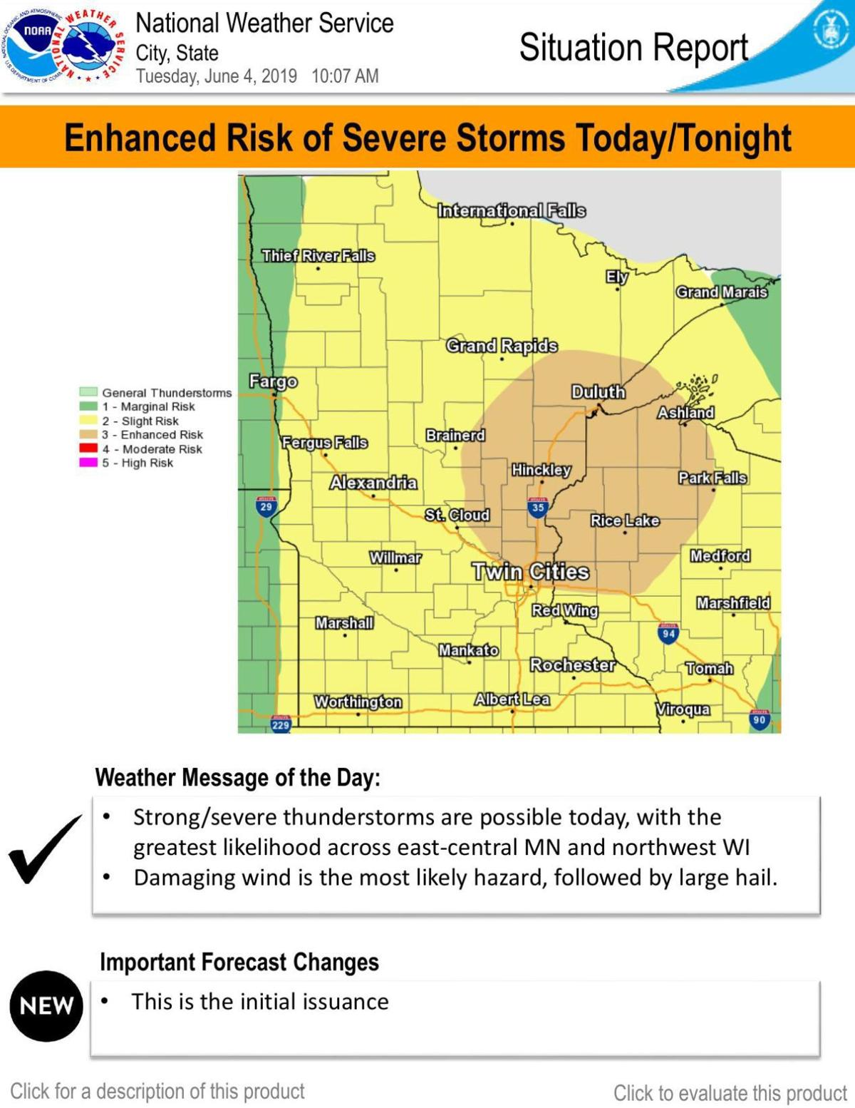 Enhanced Risk of Severe Storms Today/Tonight