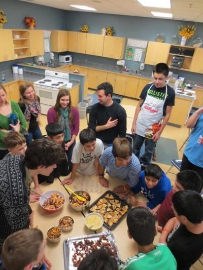 Carleton Firebellies work with Northfield students