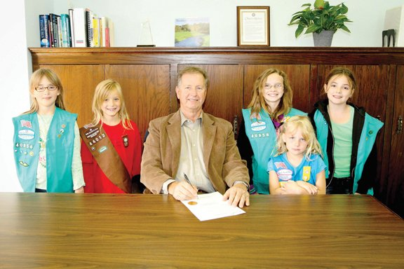 With the Girl Scouts