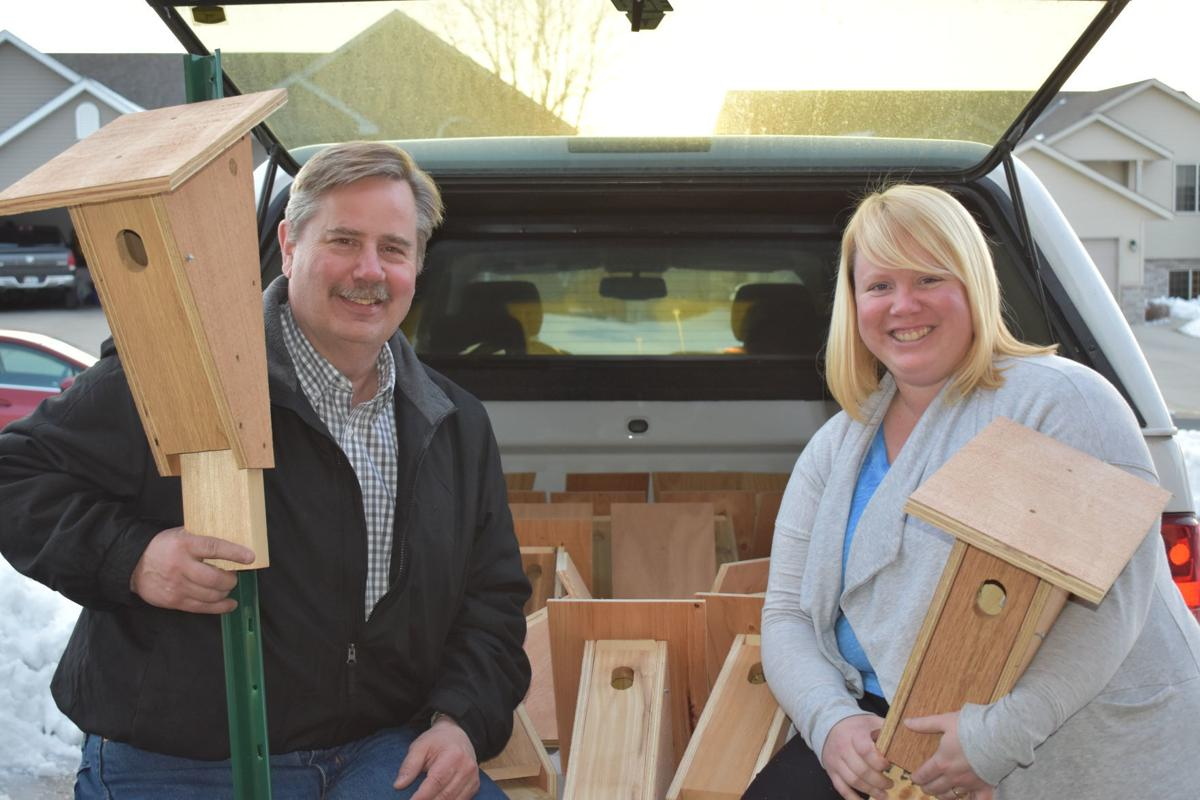 Bluebird houses hold family together after death of mother, wife