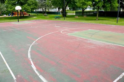 Minot Brown Park basketball courts