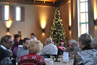 St. John's community Christmas dinner 2016 crowd
