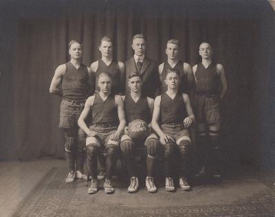 1918 Waseca boys basketball state champions
