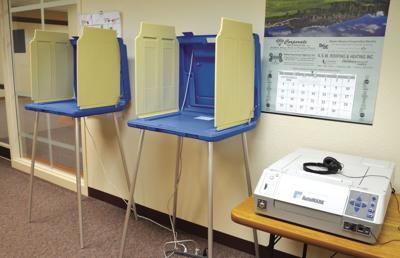 Absentee ballot booths