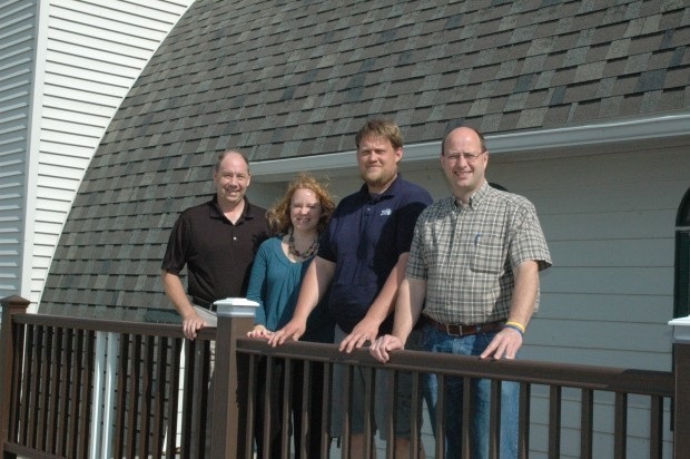 Brad Wendland, Co Owner, Left, Katie Dumdei, Home Design Gallery Manager,  Kevin Teague, General Manager, And John Snow, Co Owner, Gather For A Photo  In ...