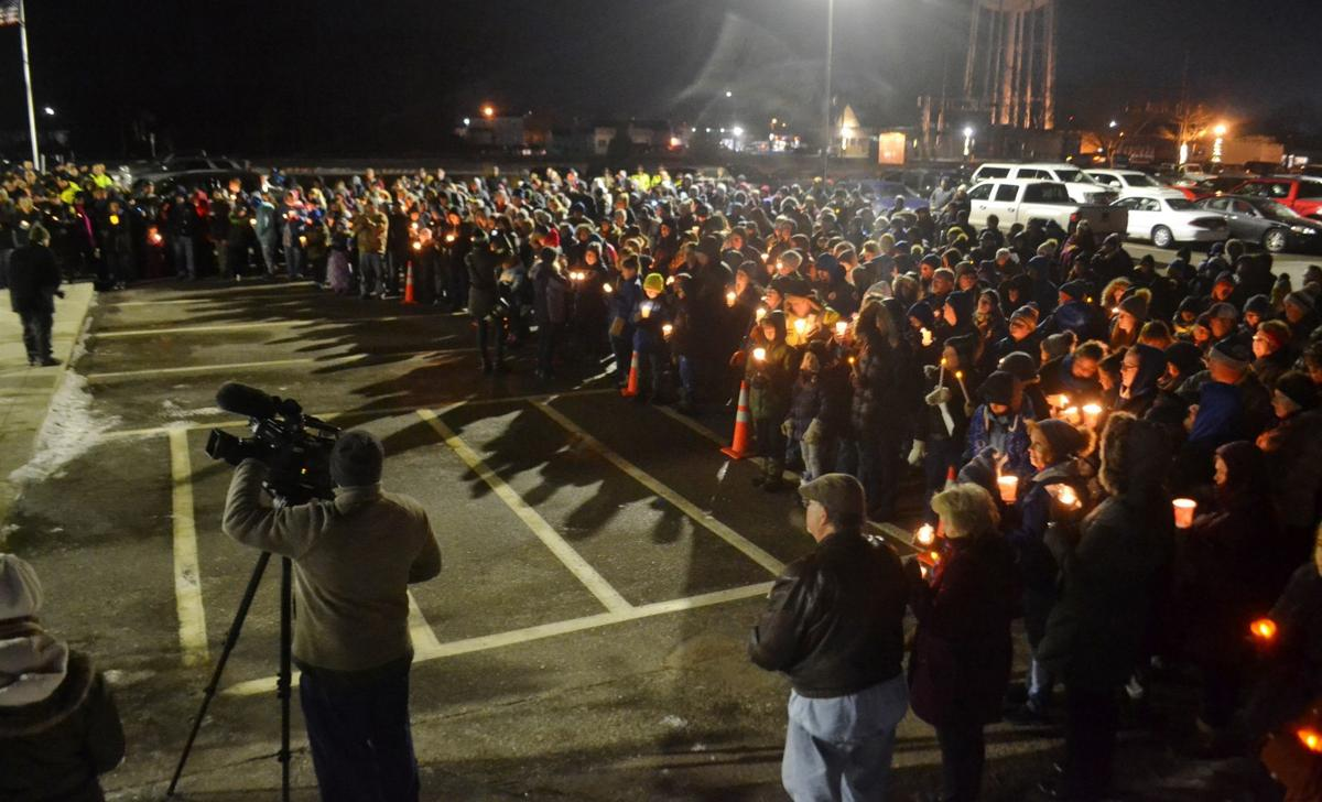 Community support continues for Officer Matson with a candlelight prayer vigil
