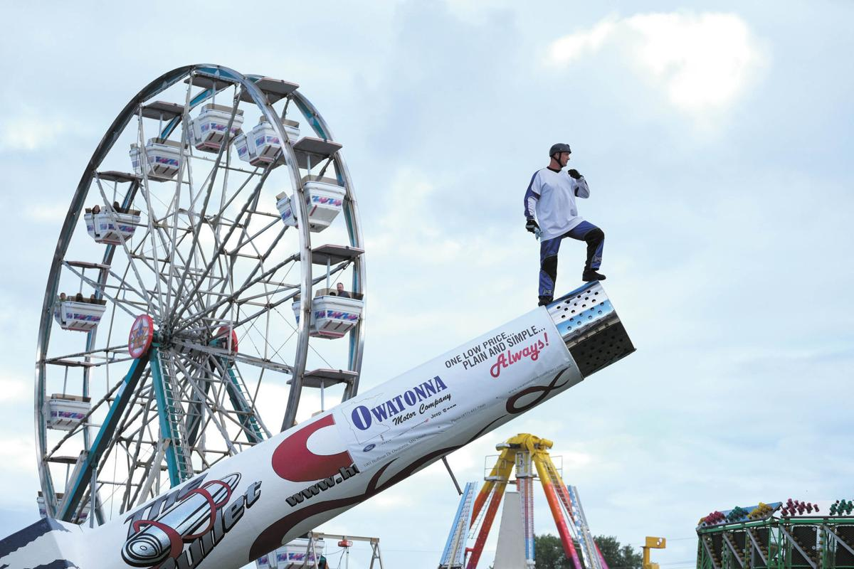 The return of The Bullet: Steele County Free Fair brings back the human cannonball
