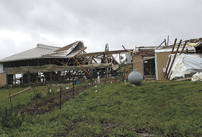 Richland Dairy after tornado