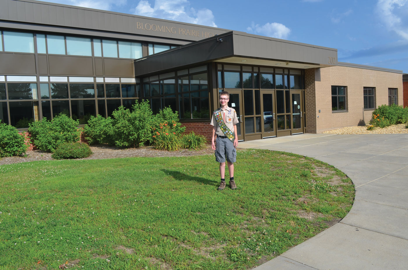 Boy Scout DJ Stender Will Build A Patio In Front Of Blooming Prairie High  School U2014 On The Grassy Area Heu0027s Standing On In This Photo U2014 As His Eagle  Scout ...