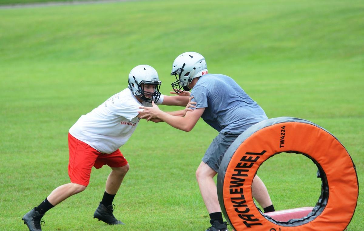 K-W football tackling wheel