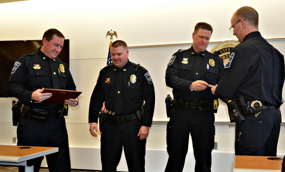 GALLERY: Northfield officers receive congratulations at