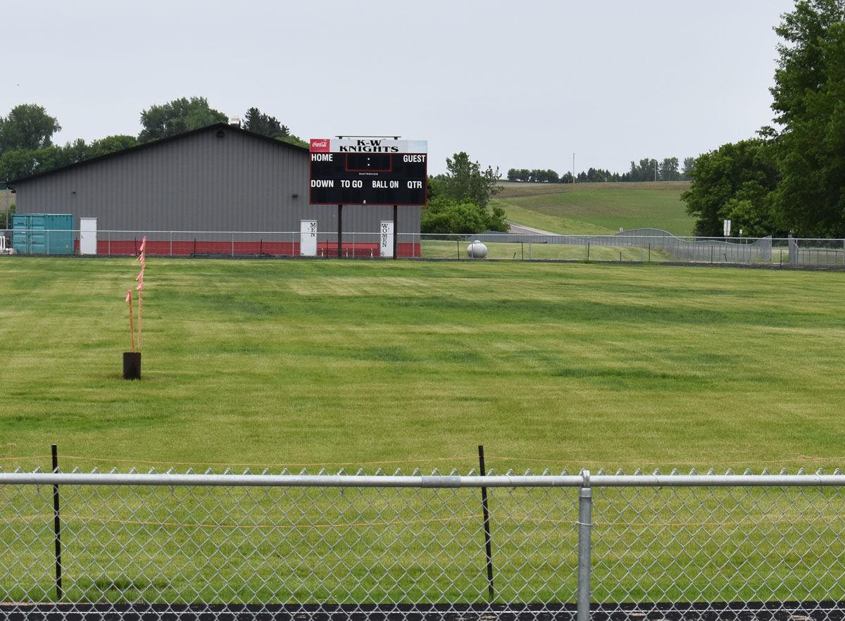 Despite drainage issues at new football field, home games go on scheduled
