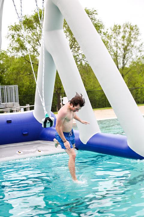 Aquatic center inflatables