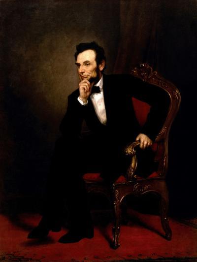 Abraham Lincoln oli painting