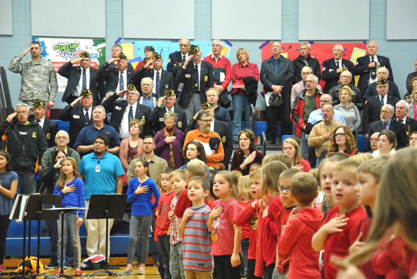 Bridgwater Veterans Day star spangled banner