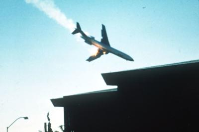 AIRPLANE ON FIRE