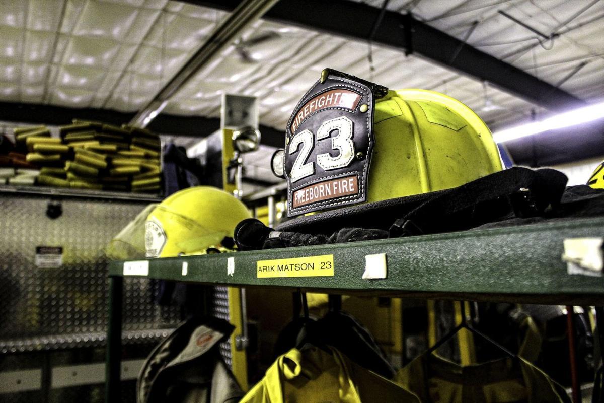 Matson firefighter's helmet