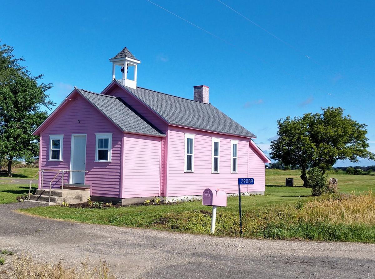 new pink schoolhouse